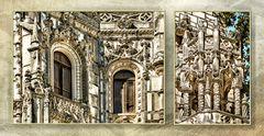 Balcones del palacio en la Quinta da Regaleira. Sintra