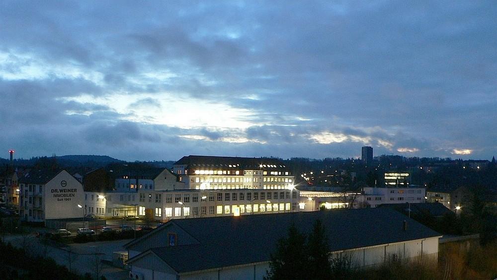 Balkonblick am Morgen