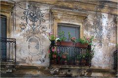 Balkonblumen an einem Palatio