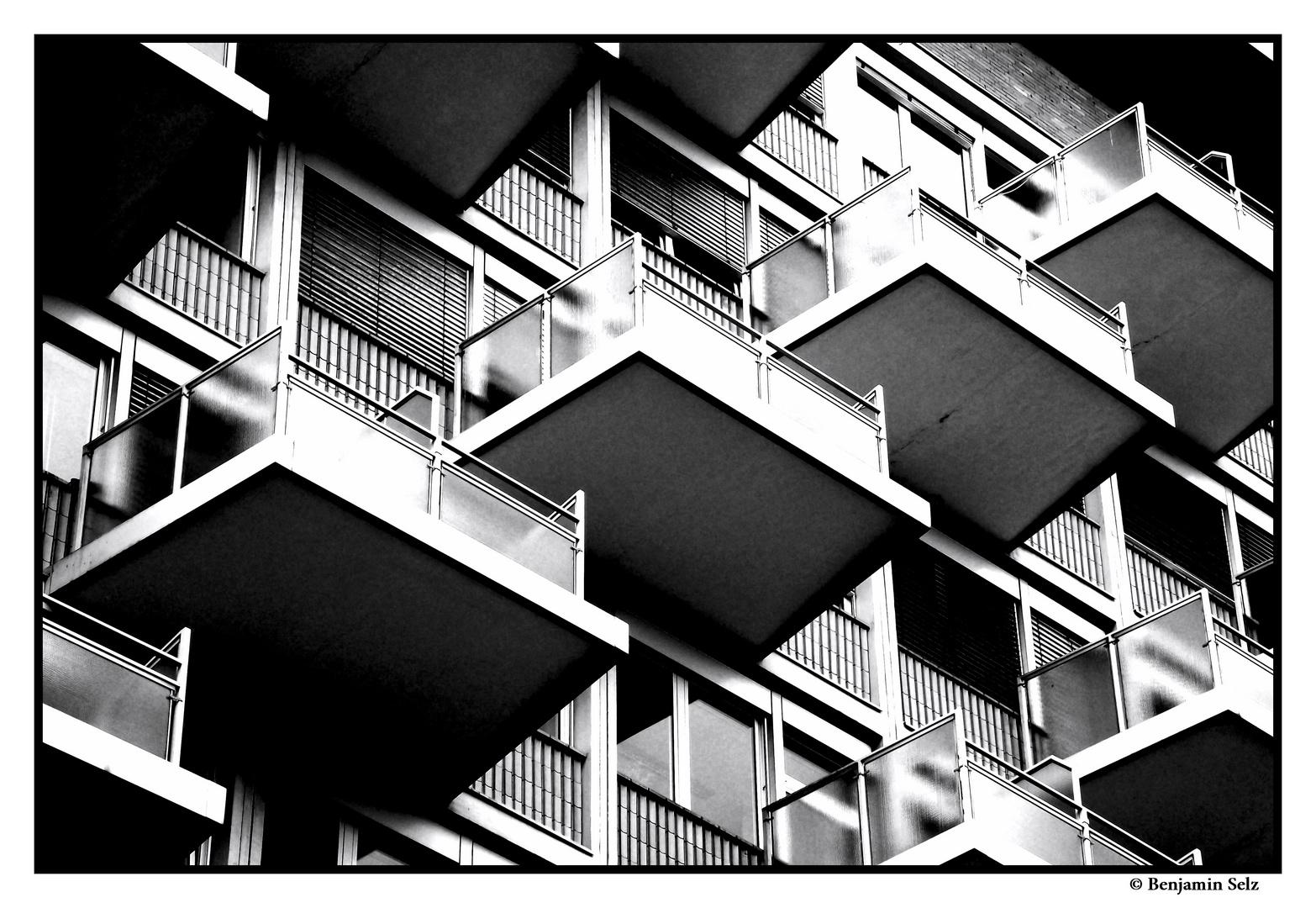 Balkonhierarchie im Krankenhaus