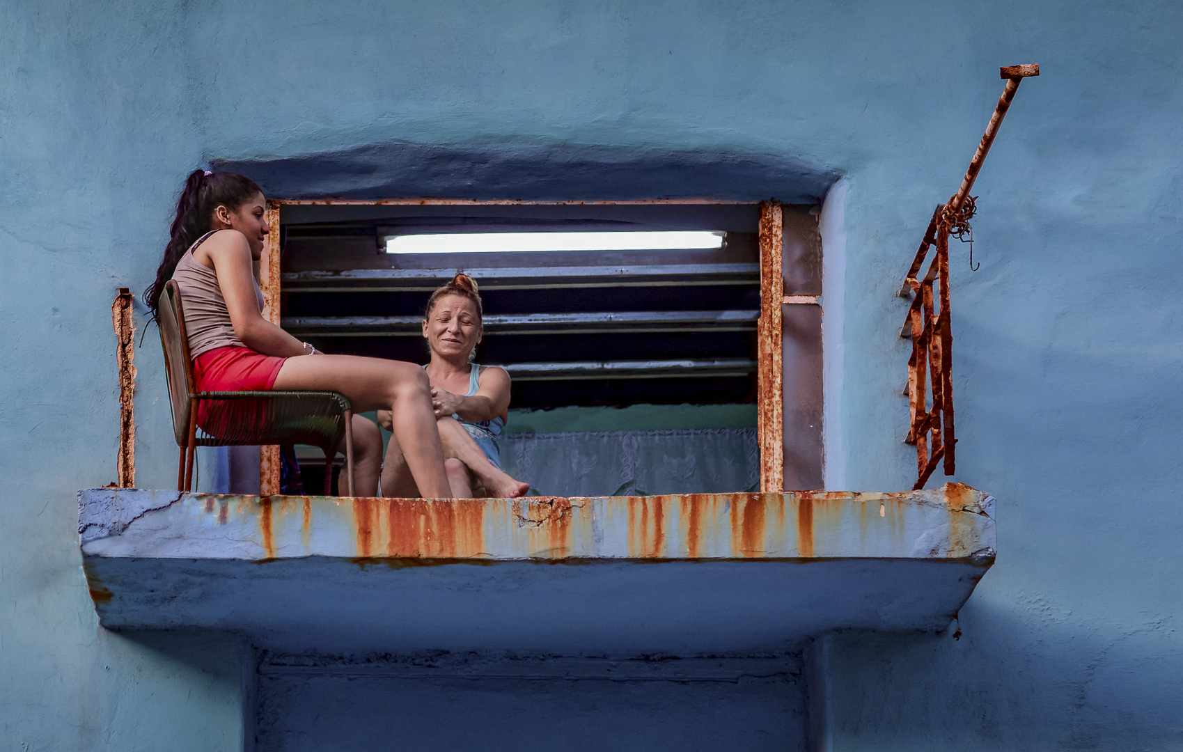 Balkonleben in Havanna