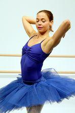 Ballerina Birgit in Blau