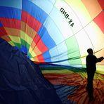 Ballon 4X-BND vor dem Start - Ballonwoche Tannheim