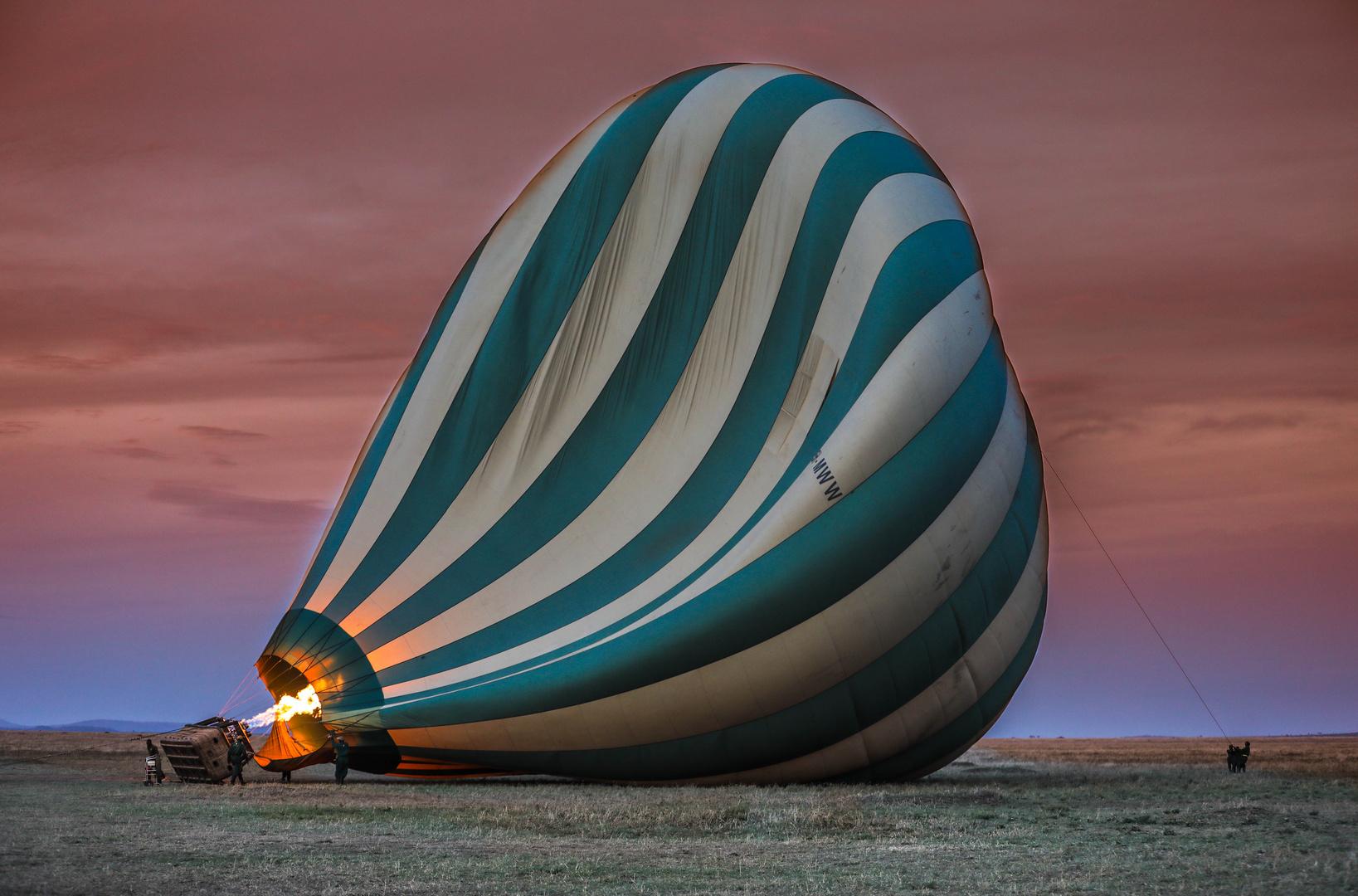 Ballon befeuern