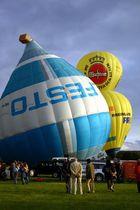 Ballon steht kopf