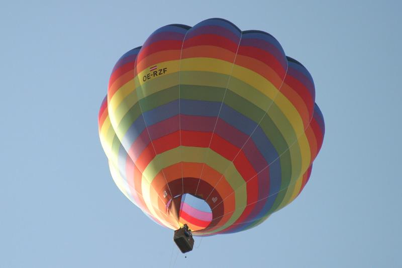 Ballon über den Dächern von Wien