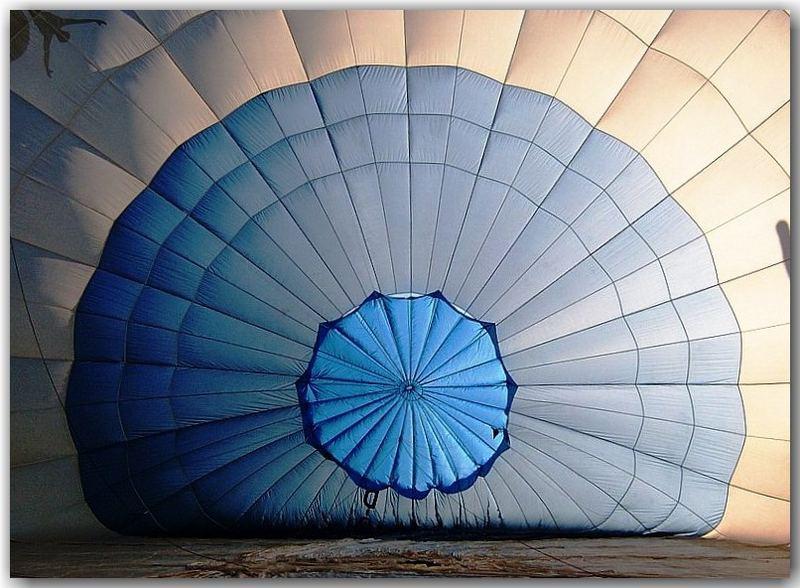 Ballon wird aufgeblasen