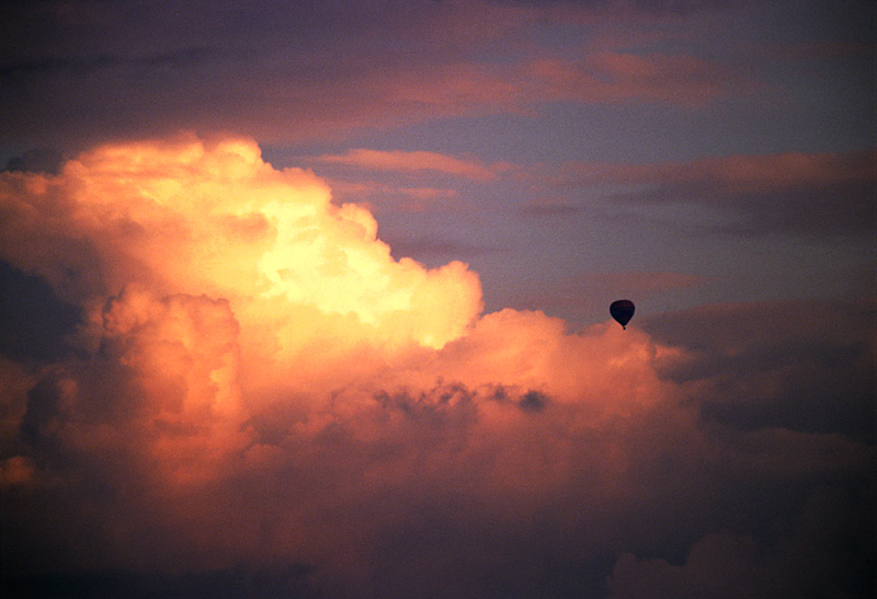 Ballonfahrt ins Gewitter