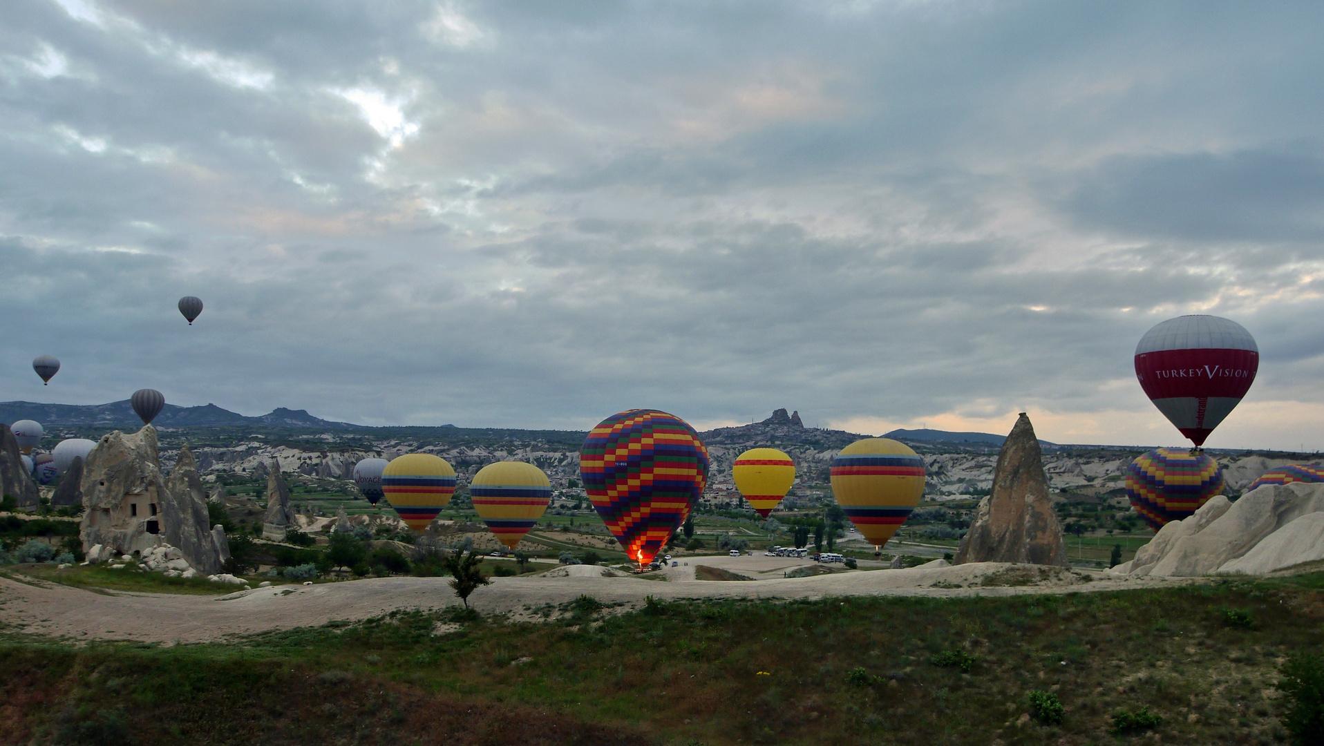 Ballonfahrt vor dem Frühstück