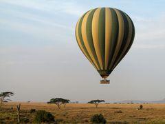 Ballonflug über die Serengeti