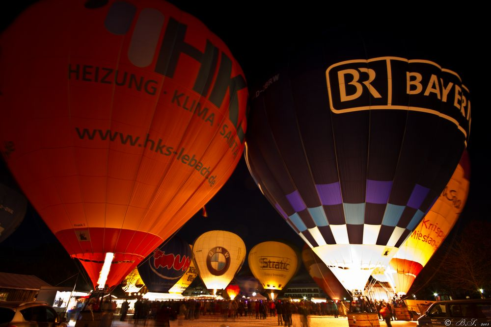 Ballonglühen Bad Wiessee, Tegernsee