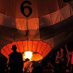 Ballonglühen bei den Flammende Sterne Ostfildern 2013