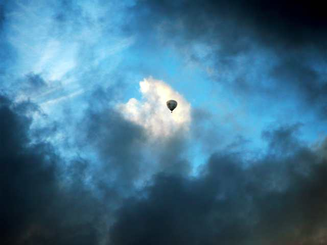 balloon in clouds
