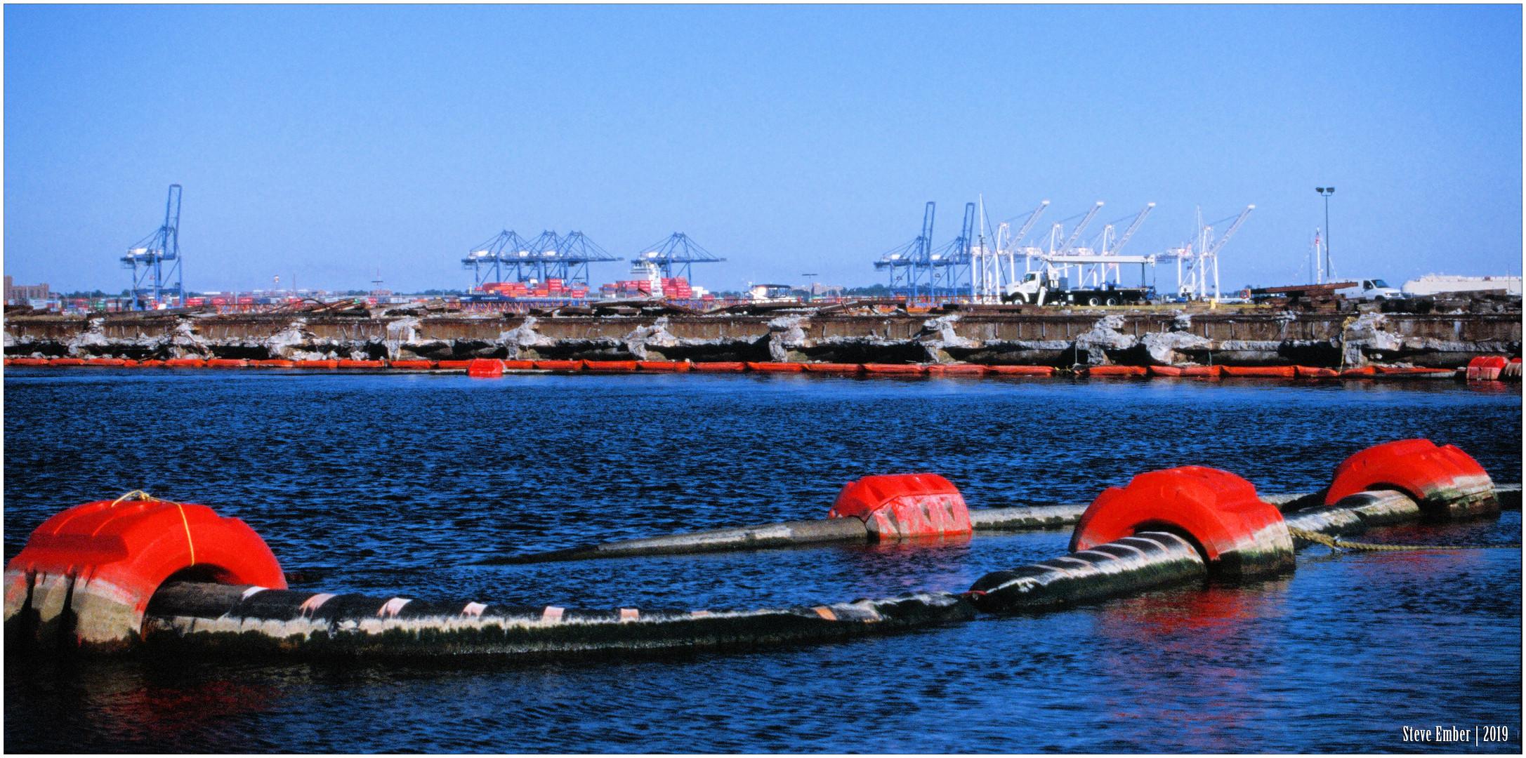 Baltimore Harbor - View toward Sea Girt Marine Terminal