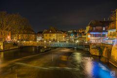 Bamberg bei Nacht - linker Regnitzarm