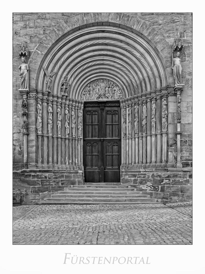 """Bamberger DOM - Schatz des Glaubens """" Blick, zum Fürstenportal..."""""""