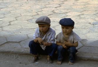 bambini uiguri di Kashgar (Cina)