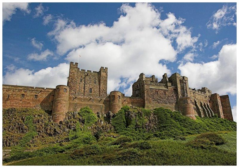Bamburgh Castle um die Ecke..