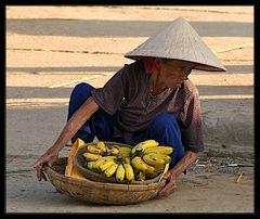 Bananen Verkäuferin