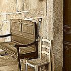 banco  antiguo (  Casas del  Conde  )