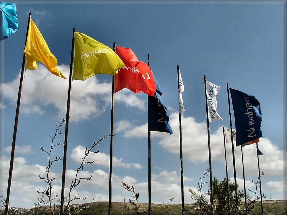 Bandiere al vento.