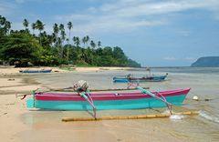 Bangka, bei einem kleinen Fischerdorf