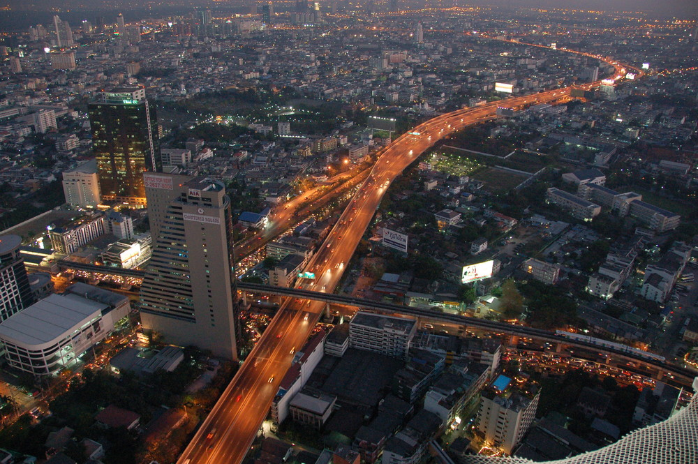 Bangkok  after Sunset from   State Tower