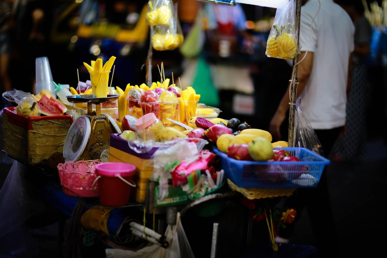 Bangkok, street food. Version fruitée.