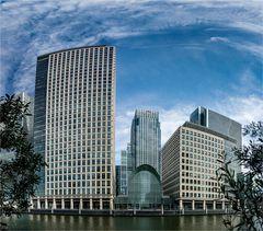 Bankgebäude in den Docklands