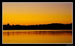 Bannwaldsee am abend