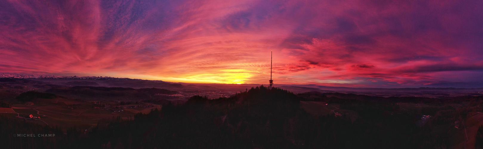 Bantiger at Sunset Pano