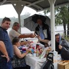 Barbecue in Brisbane city in the rain