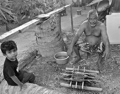 barbecue with grandpa