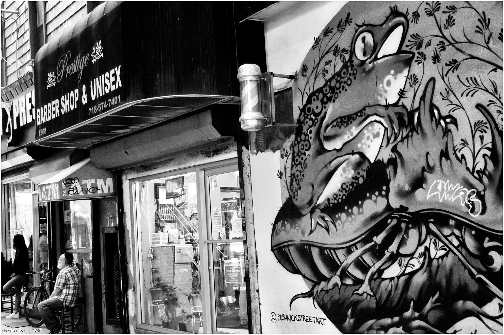 Barbershop and Bullfrog - A Bushwick Moment