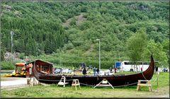 Barca al villaggio Viking
