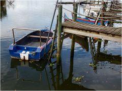 Barca in riposo...mardi bleu!