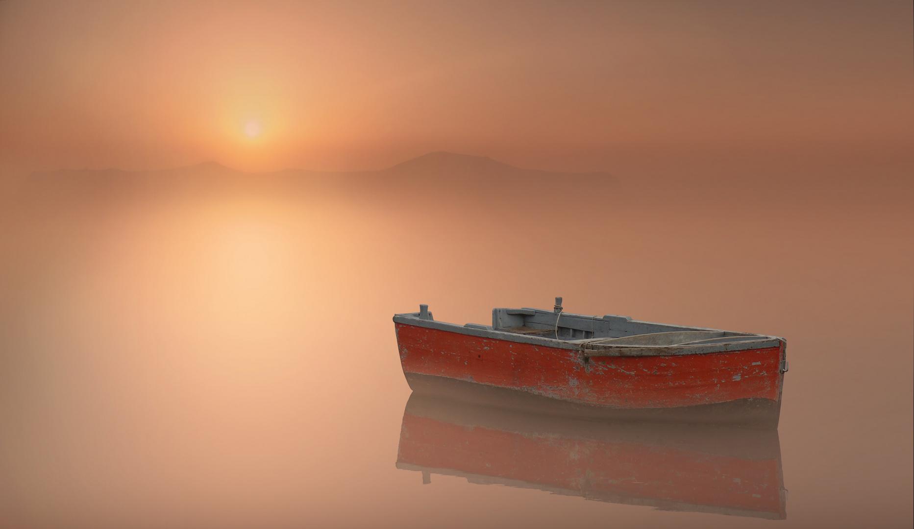 Barca nella nebbia