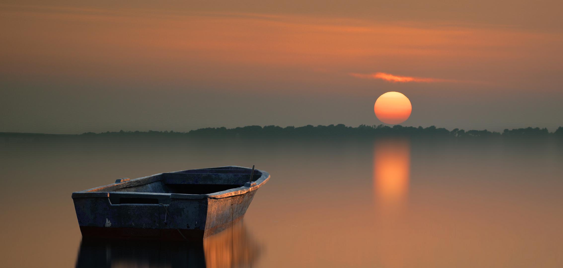Barca solitaria