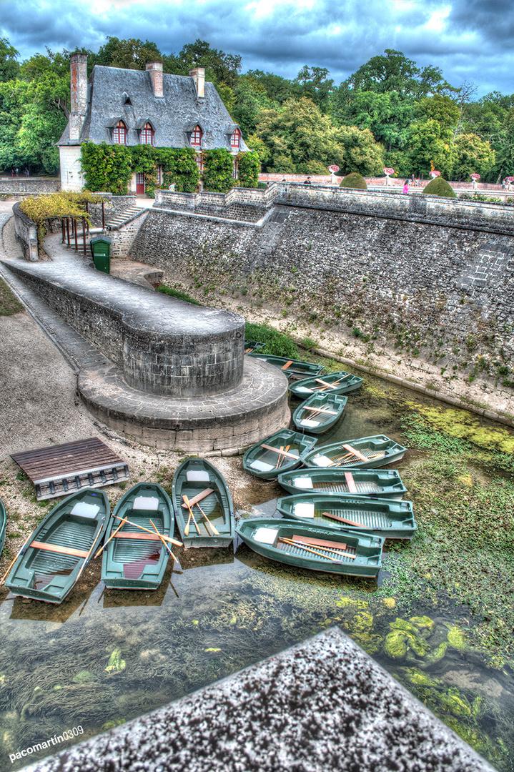 Barcas en el Castillo de Chenonceau