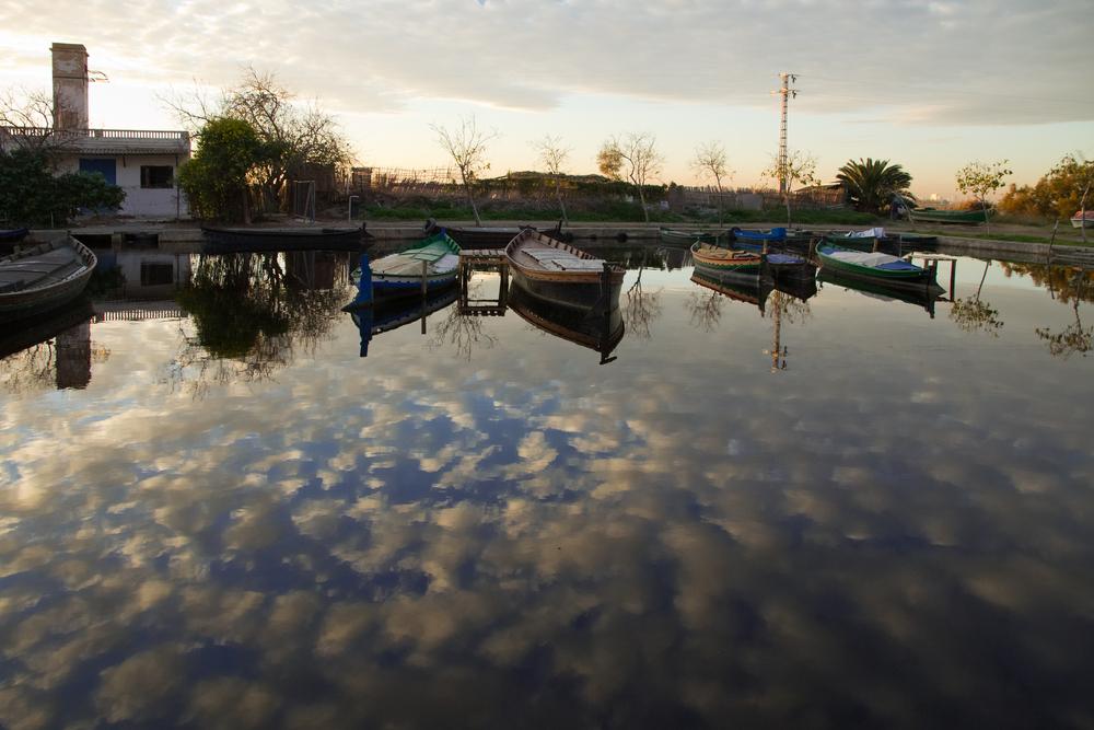 Barcas en el cielo.