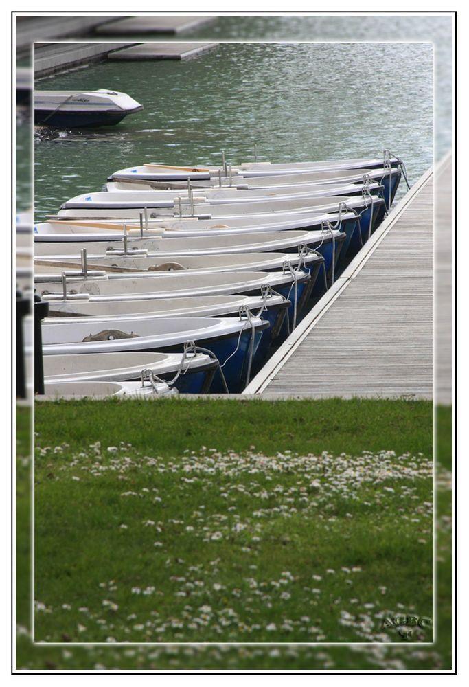 Barcas en el embarcadero Estanque de El Retiro (Madrid) GKM2