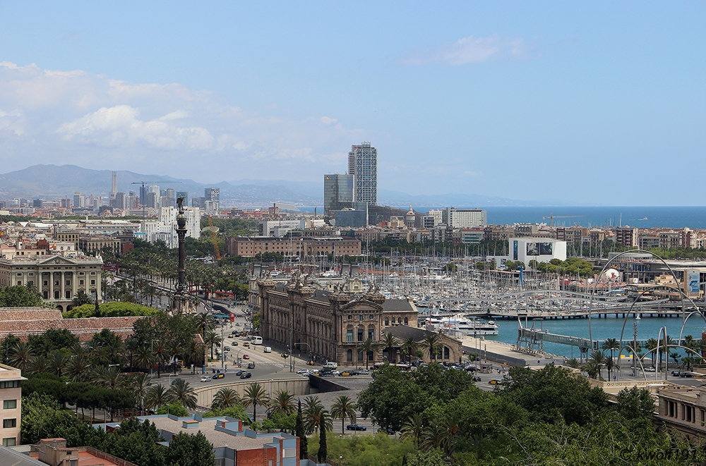Barcelona - Blick vom Berg Montjuïc