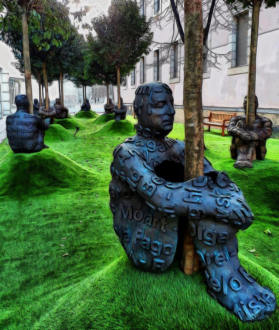 Barcelona - exposició de Jaume Plensa al MACBA - Barcelonès