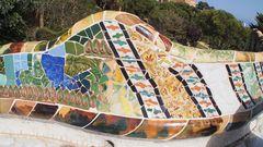 Barcelona Parc Güell 2, unendliche Bänke