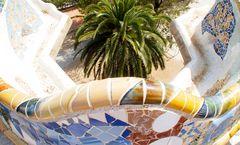 Barcelona Parc Güell 3, unendliche Bänke