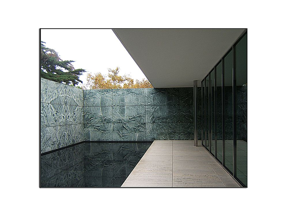 barcelona pavillon mies van der rohe 1929 foto bild architektur profanbauten motive bilder. Black Bedroom Furniture Sets. Home Design Ideas