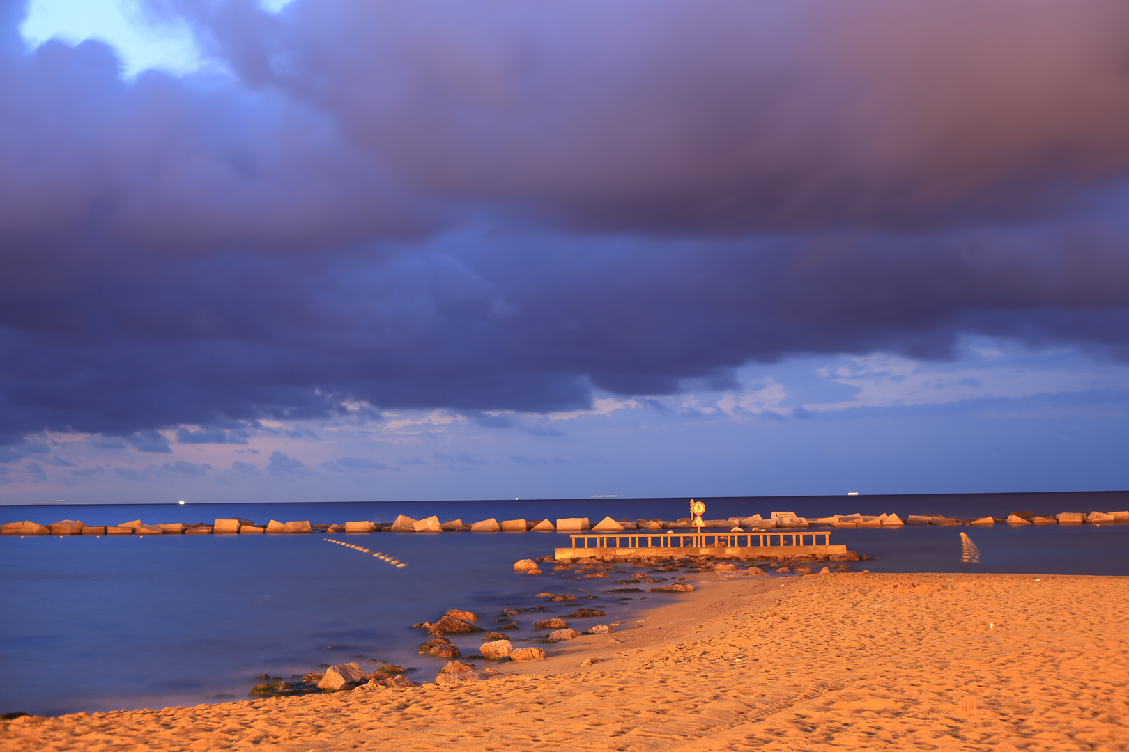 Barcelona Strand Morgendämmerung 1