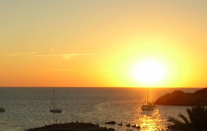 barche al tramonto