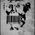barcoded monkey on strike - paris