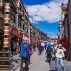 Barkhor Street in Lhasa city.1